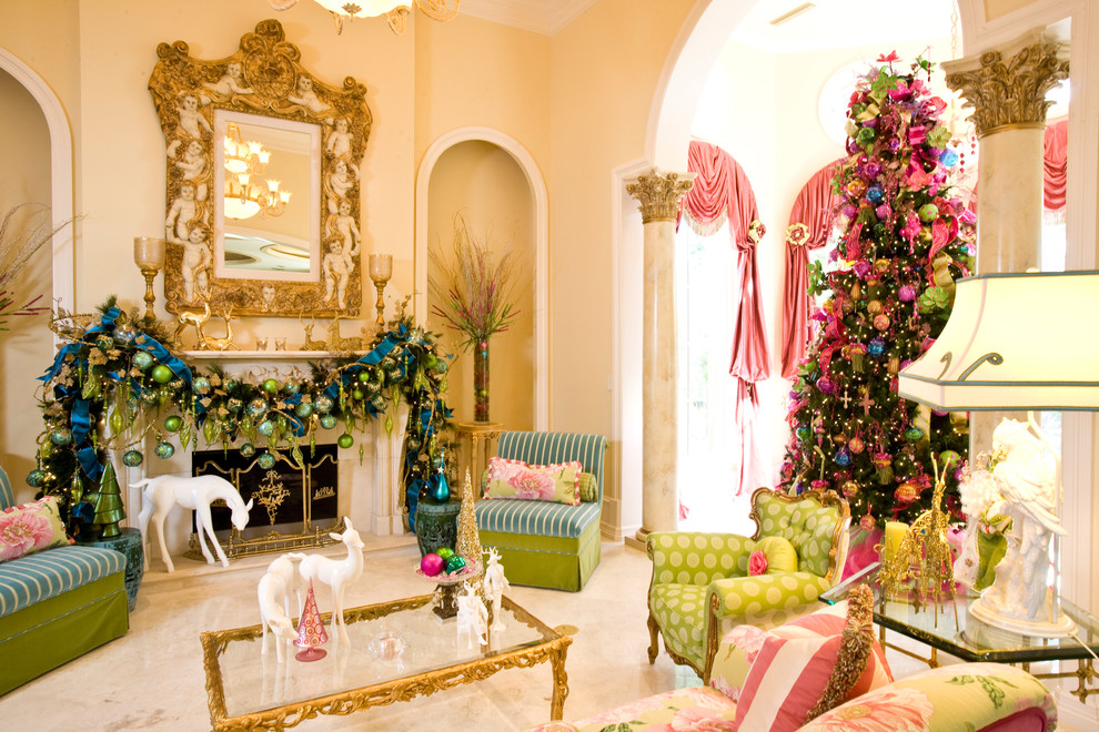 Add Zing With Pink, Green, And Blue Christmas Décor