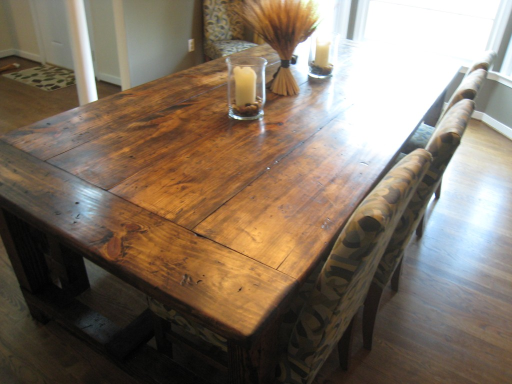 DIY Friday Rustic Farmhouse Dining Table  : Suzy q better decorating bible blog diy rustic dining table rough farmhouse plants lacquer how to budget restoration hardware heavy table big family eight seater plan 5 from betterdecoratingbible.com size 1024 x 768 jpeg 138kB