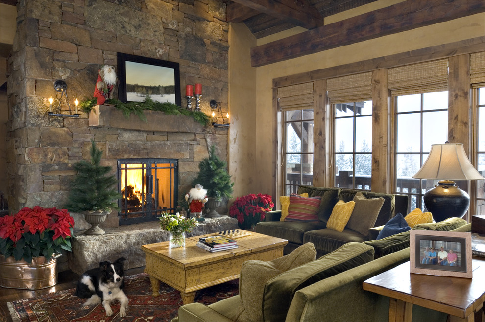 Holiday decorating the best inspirational spaces for Xmas living room ideas