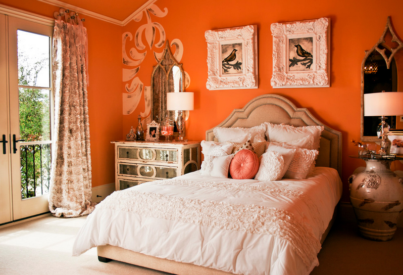 suzy q better decorating bible blog interiors orange walls slip