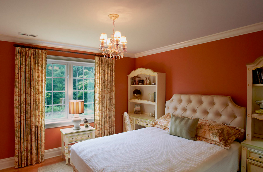 Hot betterdecoratingbible - Curtains with orange walls ...