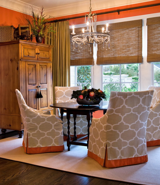 Curtains Ideas cover walls with curtains : Suzy q, better decorating bible, blog, interiors, orange, walls ...