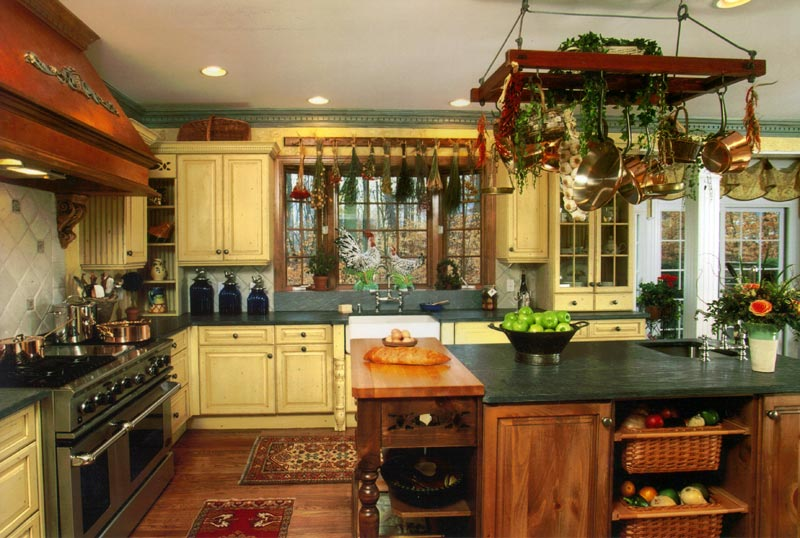 Country kitchen decorating ideas home decor and interior for Country kitchen colors ideas