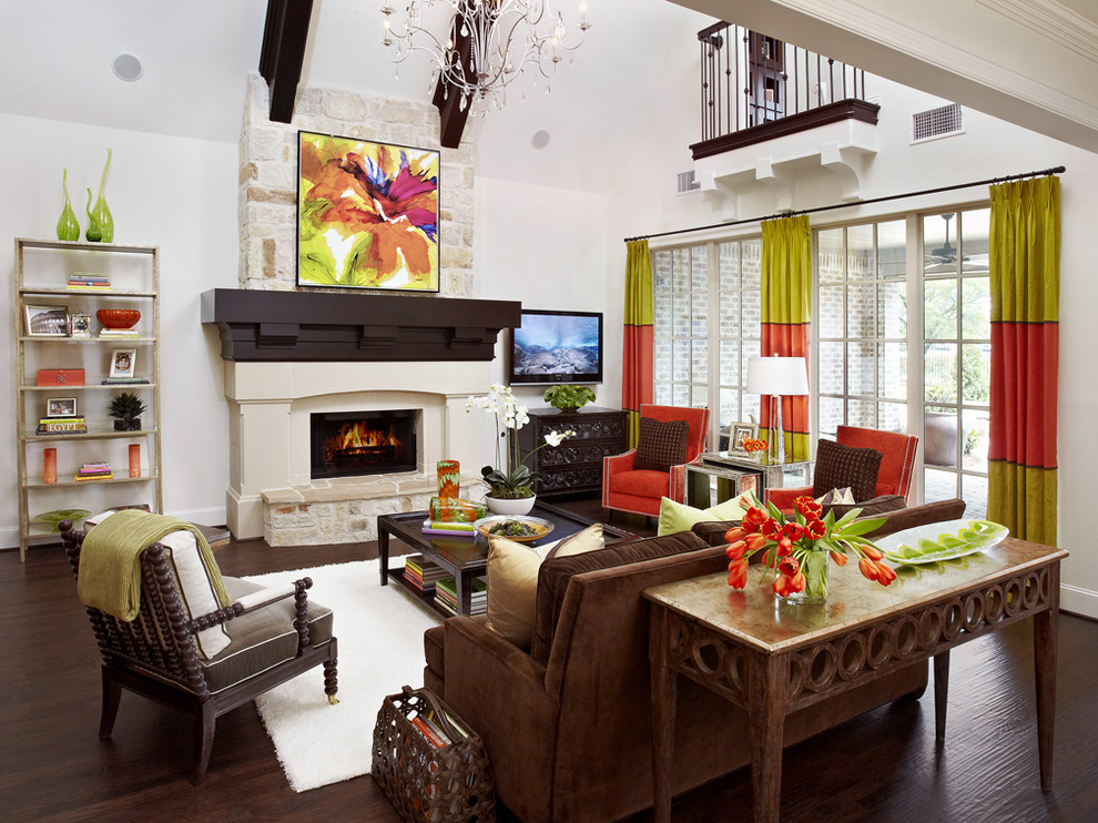 Ibb Design Color Blocking Living Room Ideas Leather