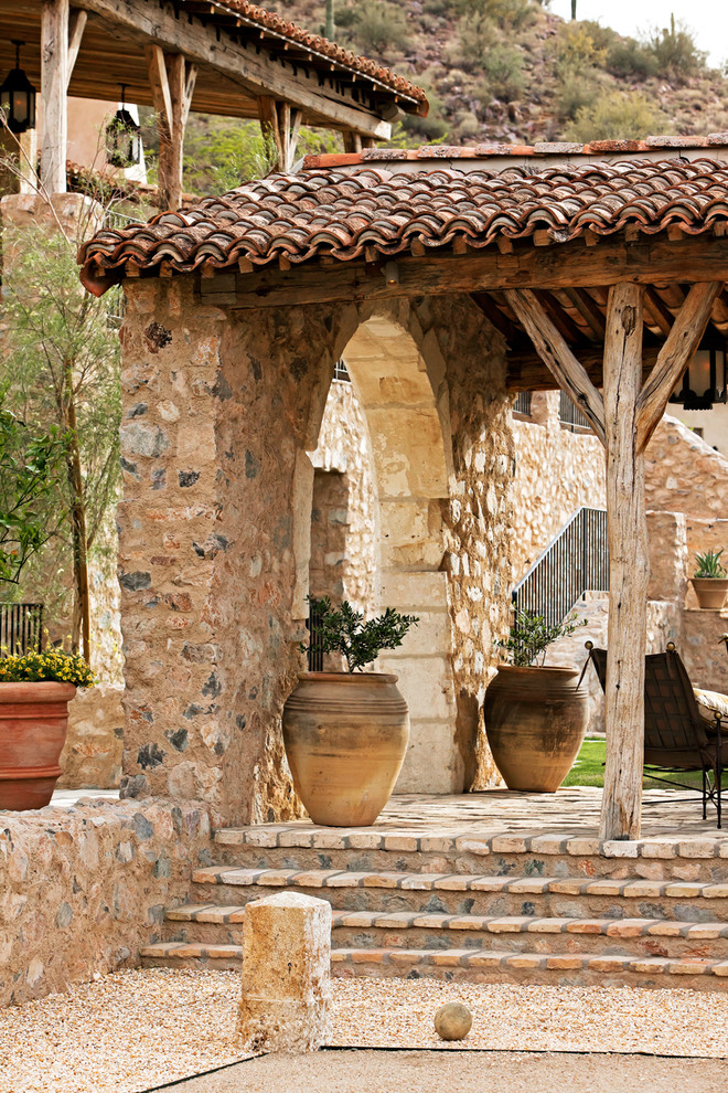 Picture your life in tuscany in a mediterranean style home for Rustic mediterranean interior design