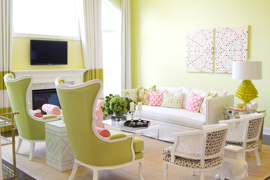 Decorating With Green Walls Enchanting With Pink and Green Living Room Decorating Ideas Pictures