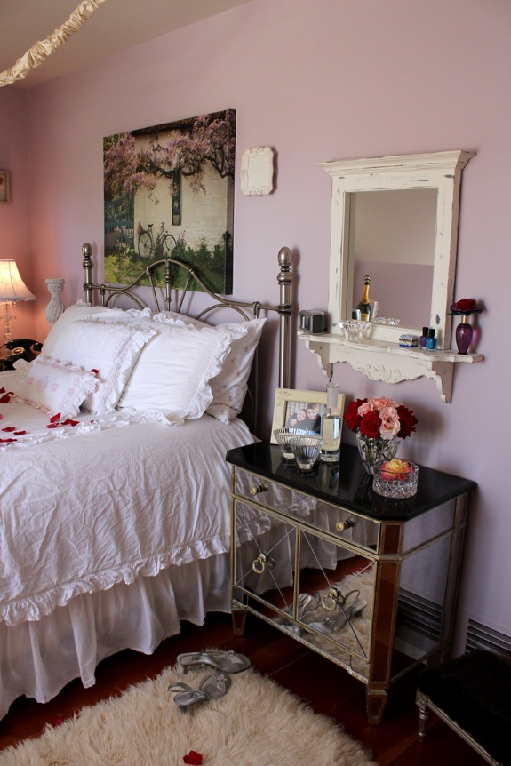 This homeowner went all out with romantic shabby chic for Decorated bible
