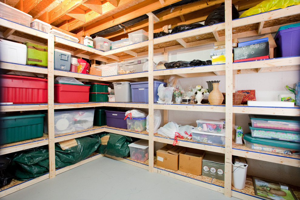 How to use every sqft of space for clever storage for Basement storage ideas