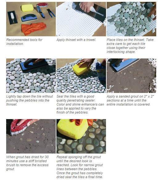 How To Tilesbetterdecoratingbible: How To Install Pebble Tiles In Your Washroom