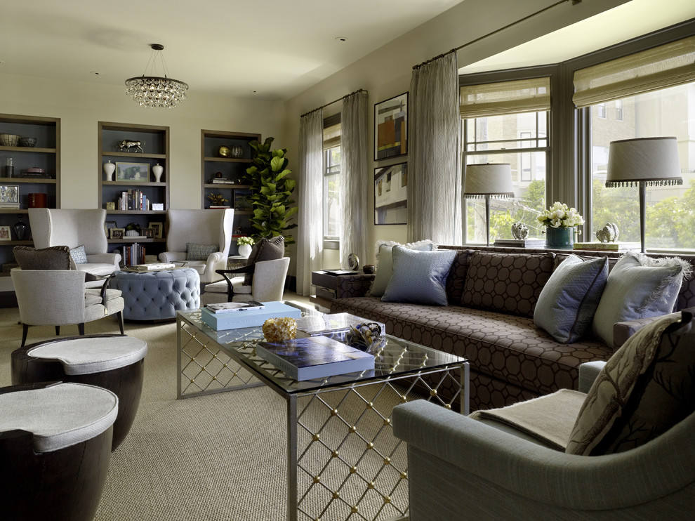 How to take advantage of a large living room for De square design and interiors