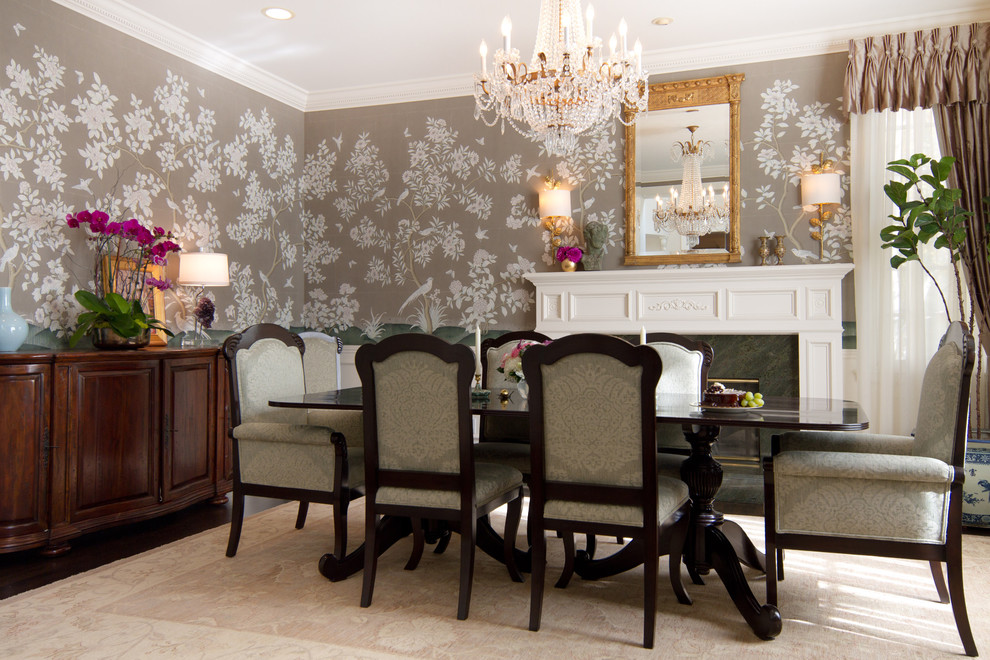 Home tour english style d cor in a stunning british for Home decor dining room