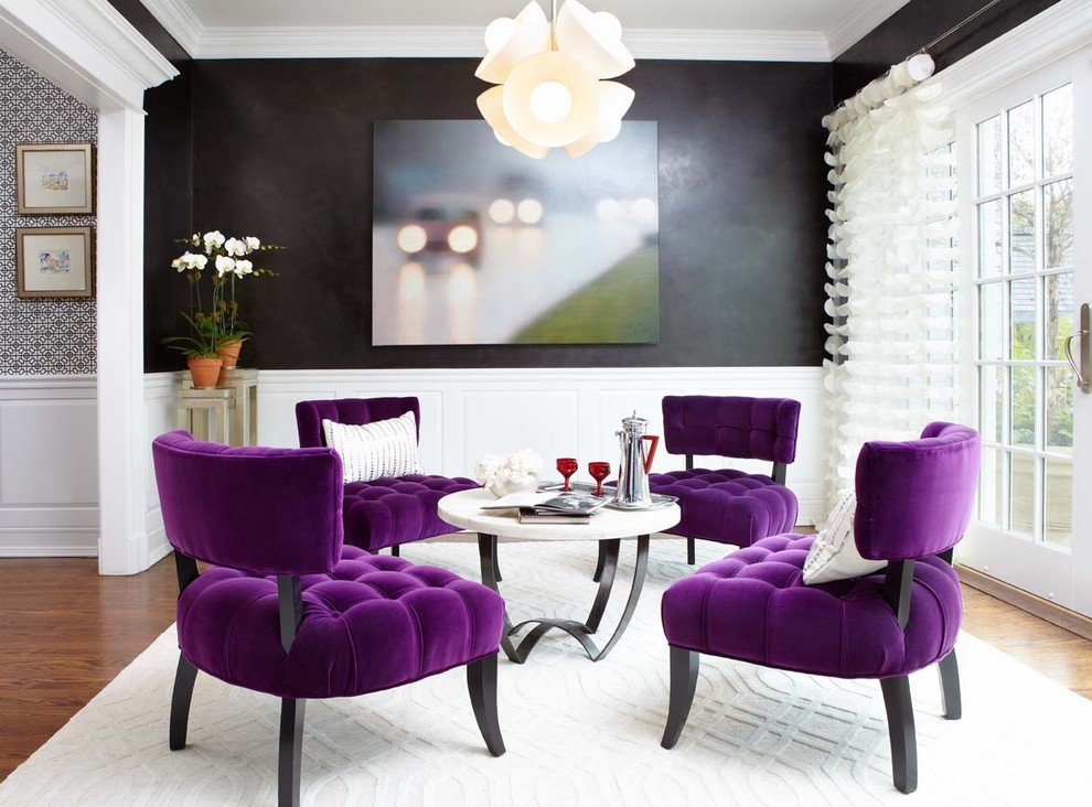 Last Detail Interior Design Purple Velvet Dining Room Chairs