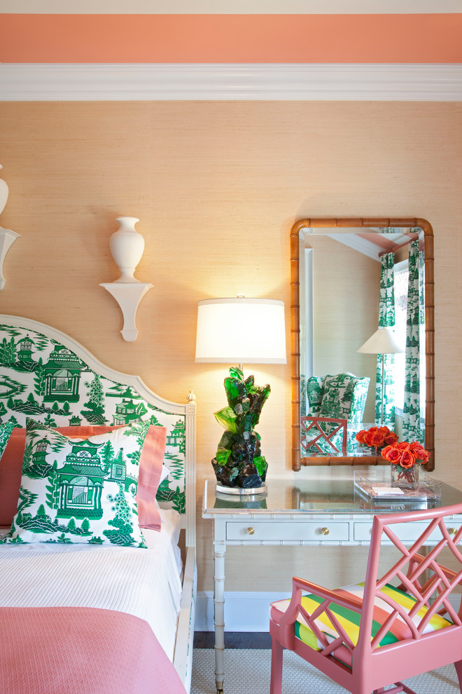 1 tobi fairely green chinoiserie chinese print better decorating bible blog glass table contemporary-bedroom