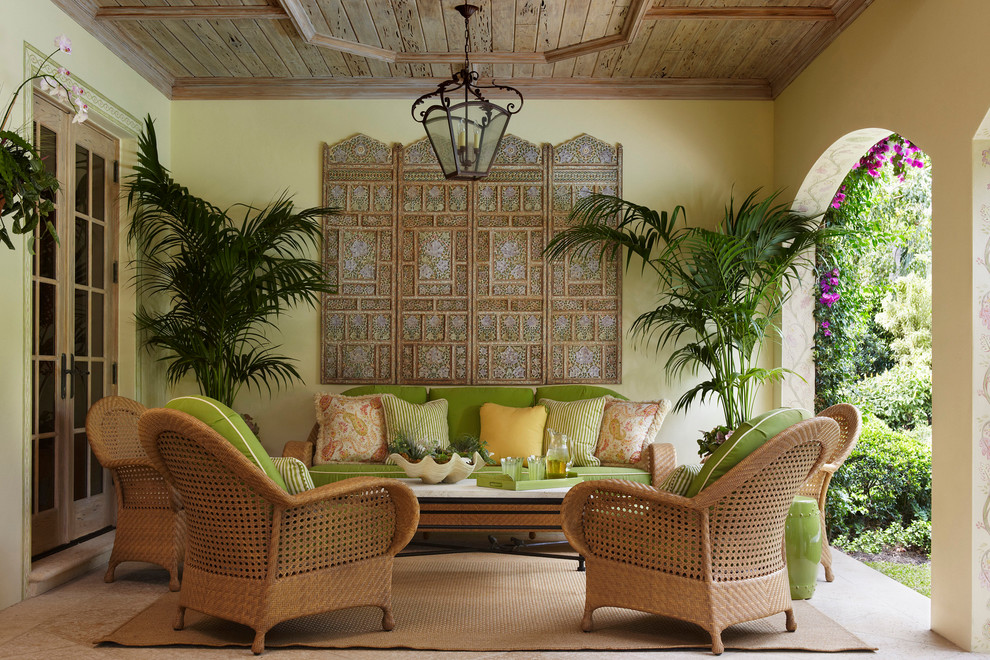 Decorating Tropical Garden Interior Design Sketches