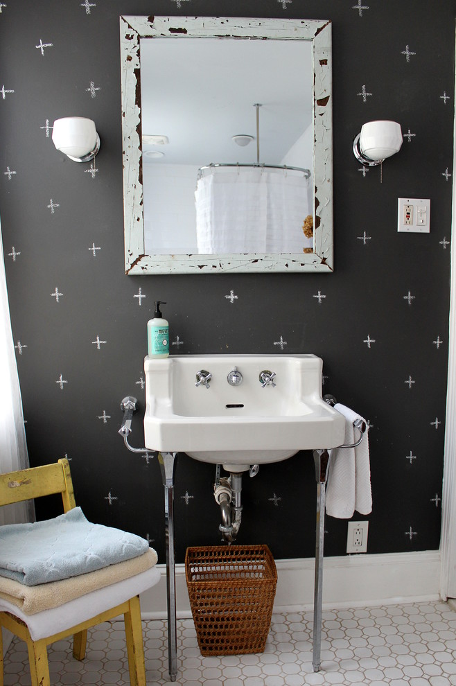 eclectic bathroom chalkboard wall mirror decor better decorating bible