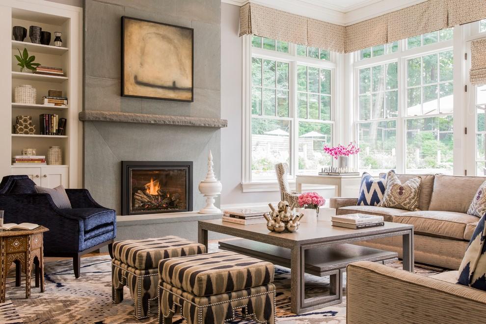 jill litner kaplan design ikat bench rug velvet taupe sofa decor blog