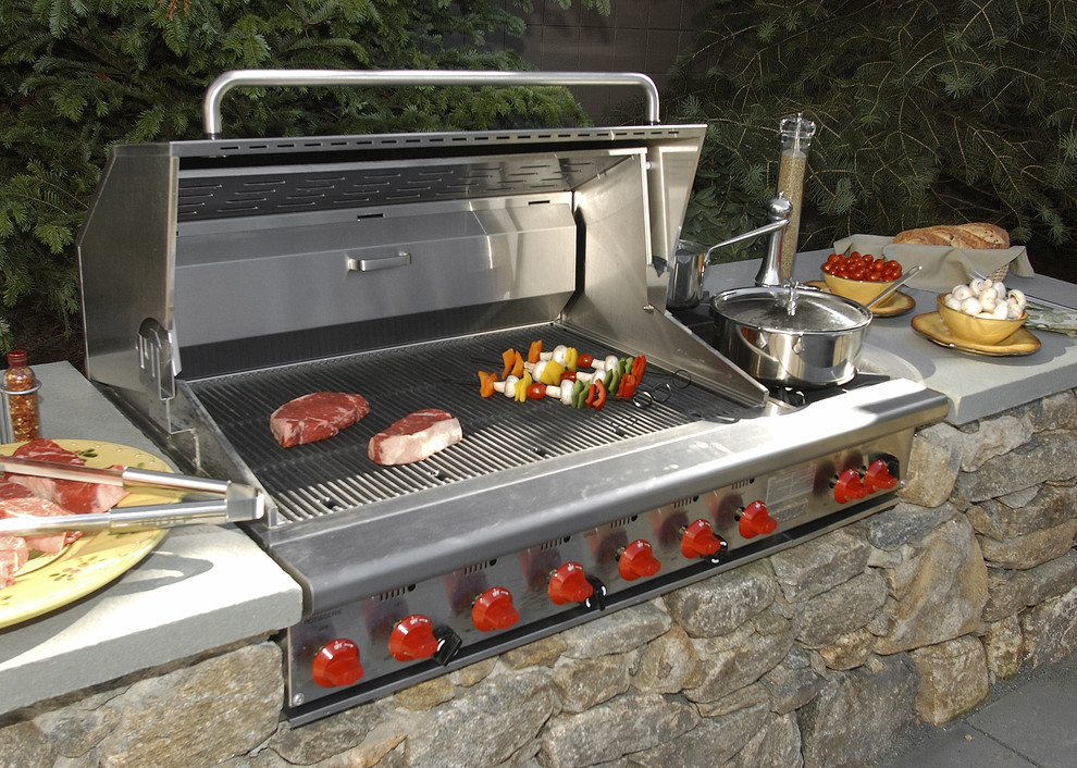 Grills Outdoor Grill Area Outdoor Barbeque Stone Garden Backyard Bbq