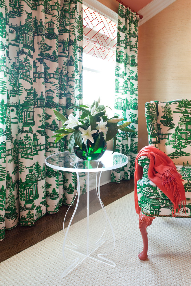tobi fairely green chinoiserie chinese print better decorating bible blog glass table contemporary-bedroom
