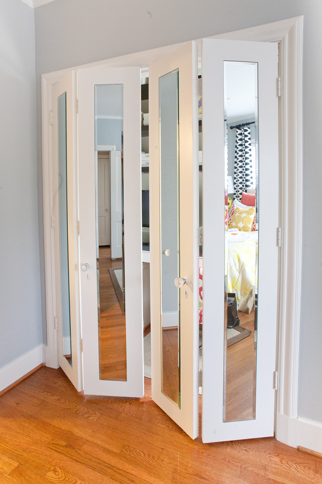 contemporary-home-office & Try This! - Organize Your Small Home with Accordion Doors ...
