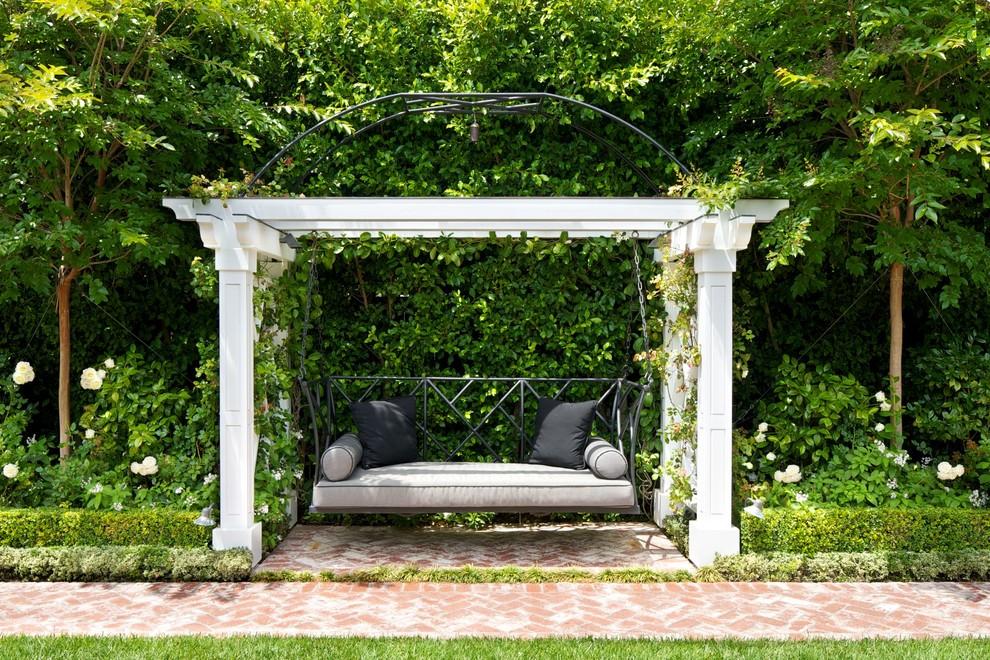 garden swingset outdoor better decorating bible blog traditional-landscape