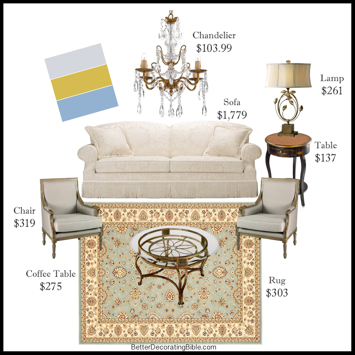 get the look for less kenneth bordewick gold chandelier rug persian aristocratic style cheap budget