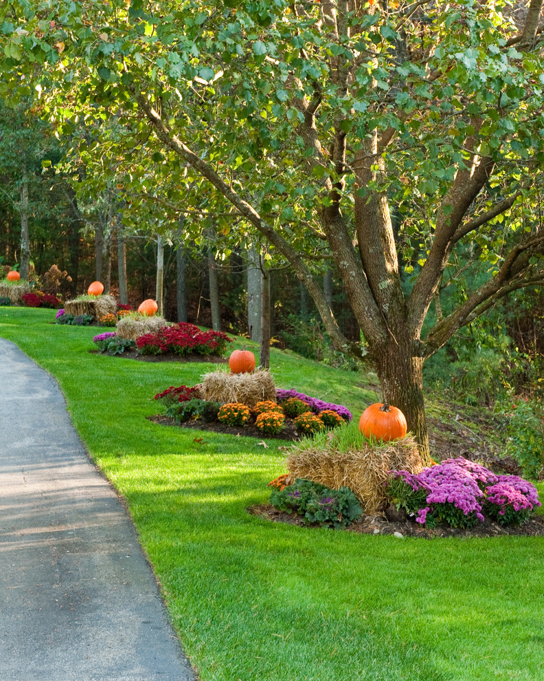 Ultimate fall makeover easy budget friendly outdoor for Traditional landscape