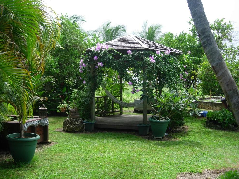 hammock garden better decorating bible blog outdoor backyard makeover tropical-landscape