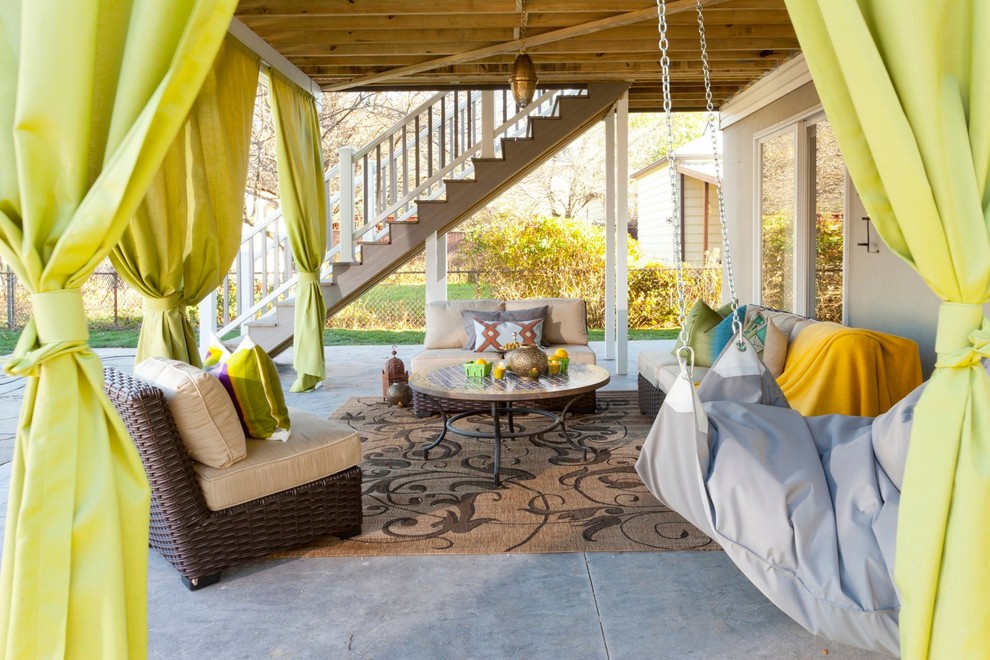 outdoor living room rug sofas patio backyard curtains how to better decorating bible blog ideas eclectic-deck