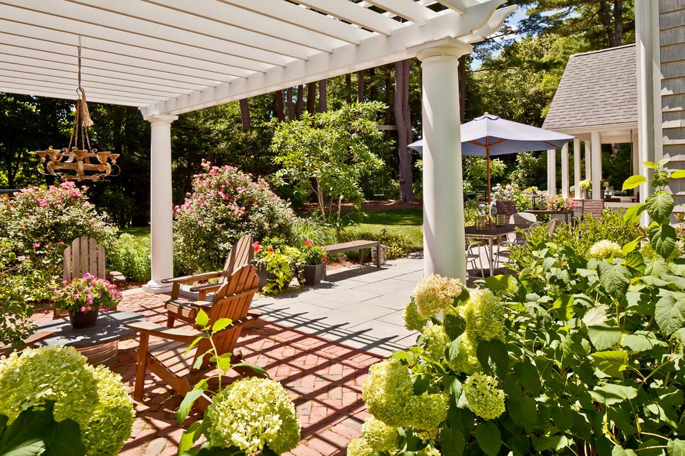 pergola garden backyard furniture stone tiles better decoraing bible blog traditional-patio