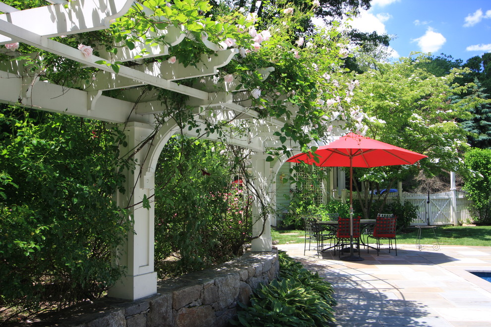 pergola vines flowers garden backyard pool decor how to better decorating bible traditional-patio