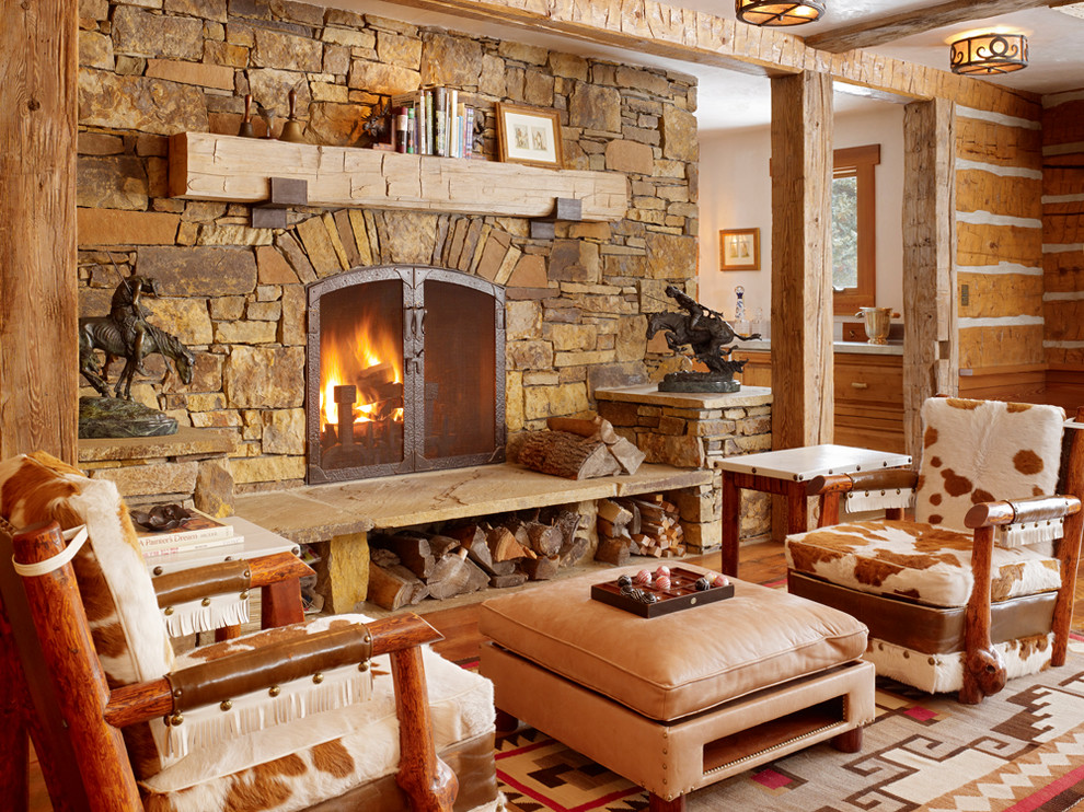 Get cozy a rustic lodge style living room makeover for Living room makeover