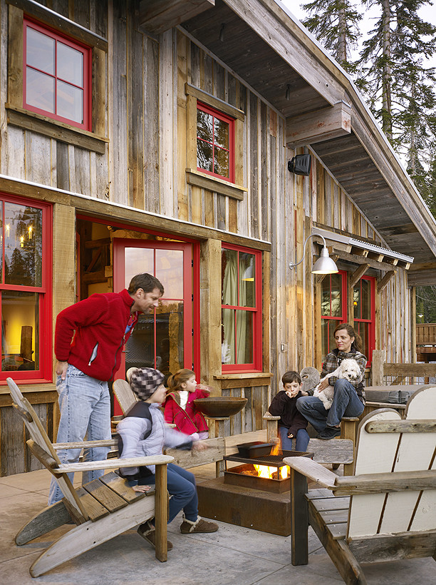 winter outdoor barbeque ideas cottage ski lodge traditional-spaces