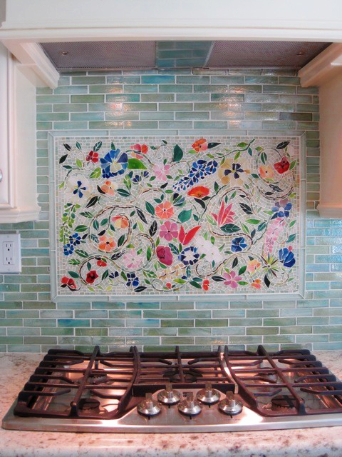 kitchen backsplash mosaic how to teal better decorating bible blog ...