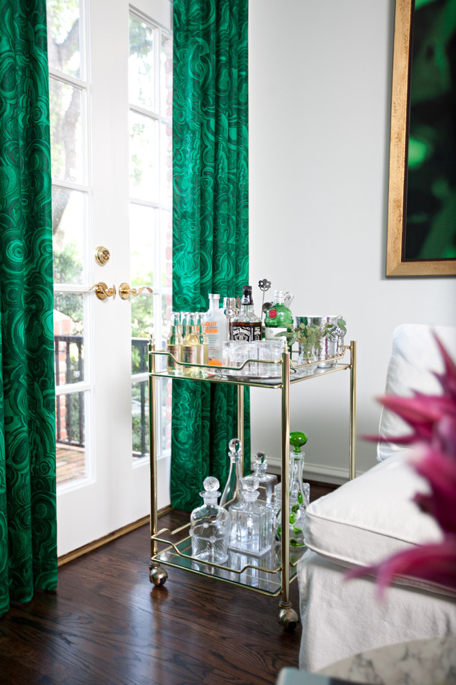 malachite fabric curtains get the look diy how to interior decor gold bar cart better decorating bible blog ideas green emerald