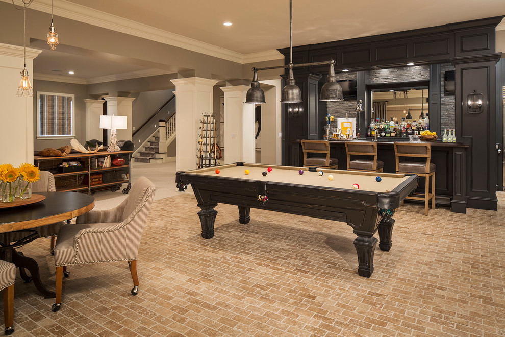 pool table entertainment rool basement