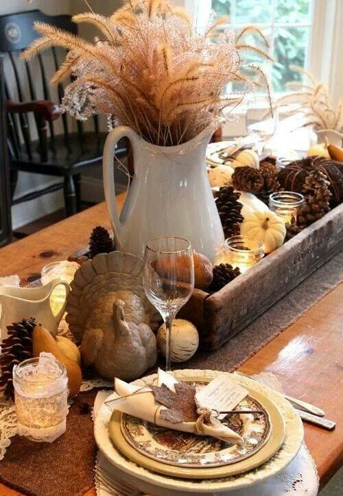 222 thanksgiving centerpiece acorn candle leaves corn diy holders easy budget last minute cheap