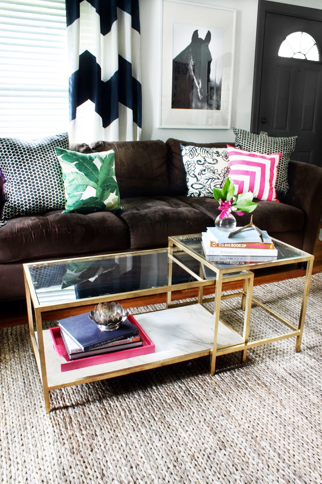Diy Tuesday Easy Gold Ikea Coffee Table Hack Betterdecoratingbiblebetterdecoratingbible
