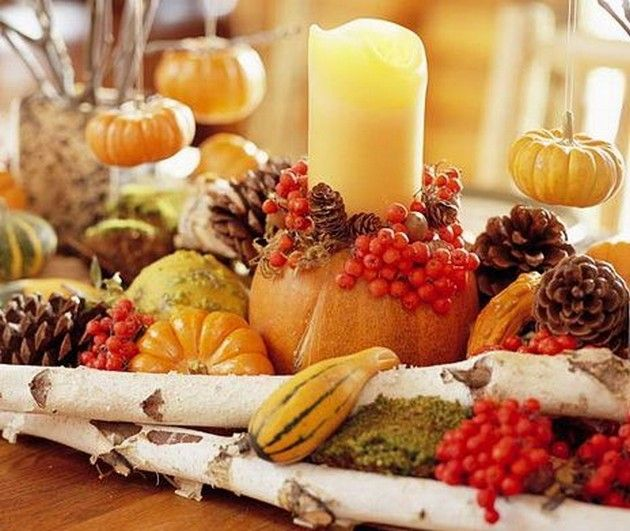 9 easy thanksgiving decor table how to candles centerpiece fall leaves pumpkins squashes dinin table front door projects last minute diy ideas vases place mats
