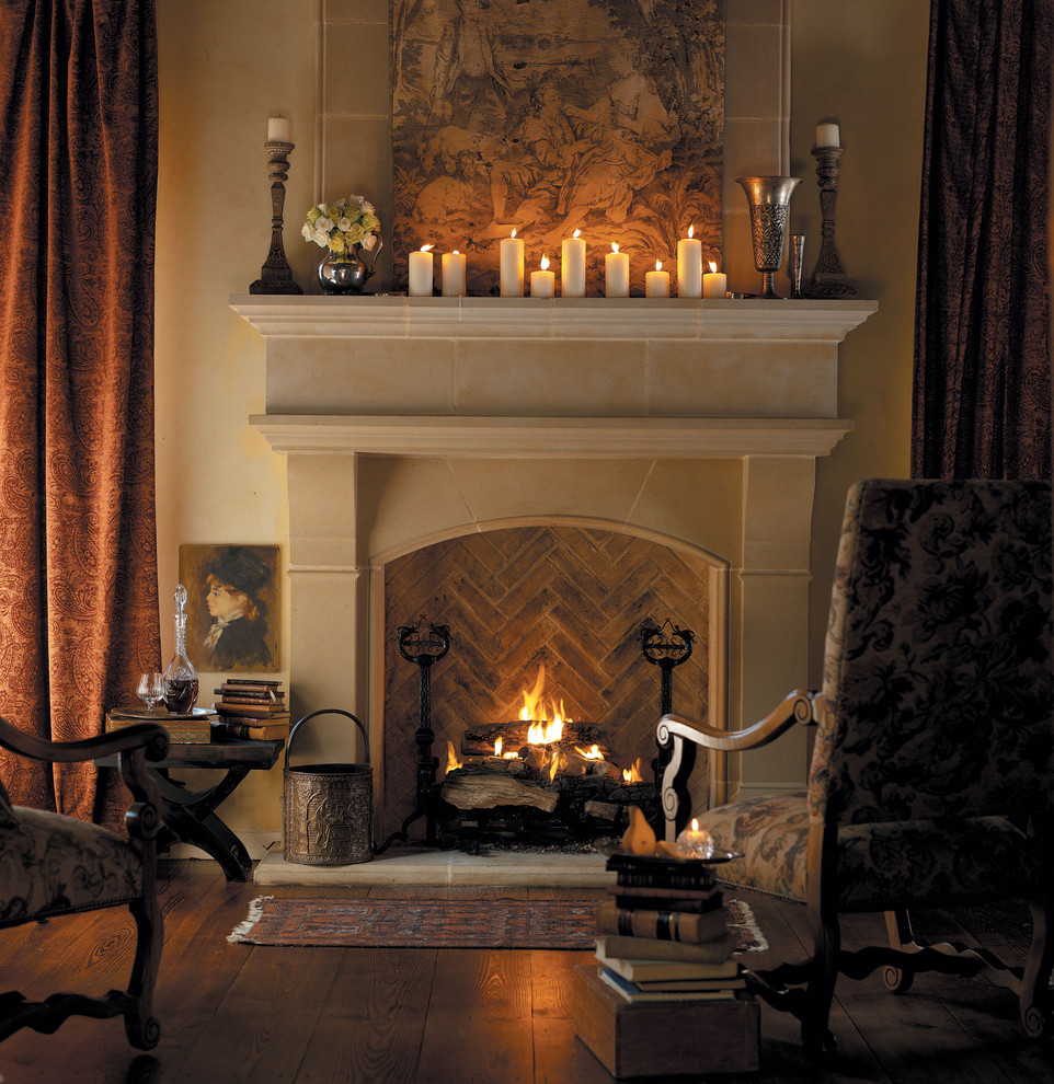 5 easy ways to make your home warm and cozy this holiday - Living room with fireplace ...