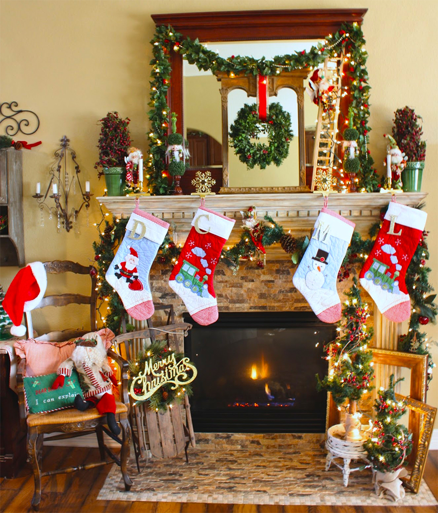 christmas mantel diy decorations ideas holiday
