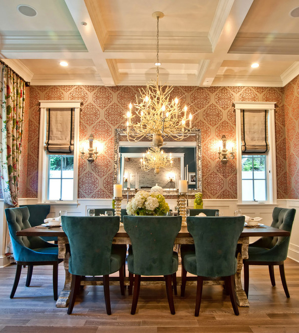Dining Room Wall Paper: 5 Easy Ways To Make Your Home Warm And Cozy This Holiday
