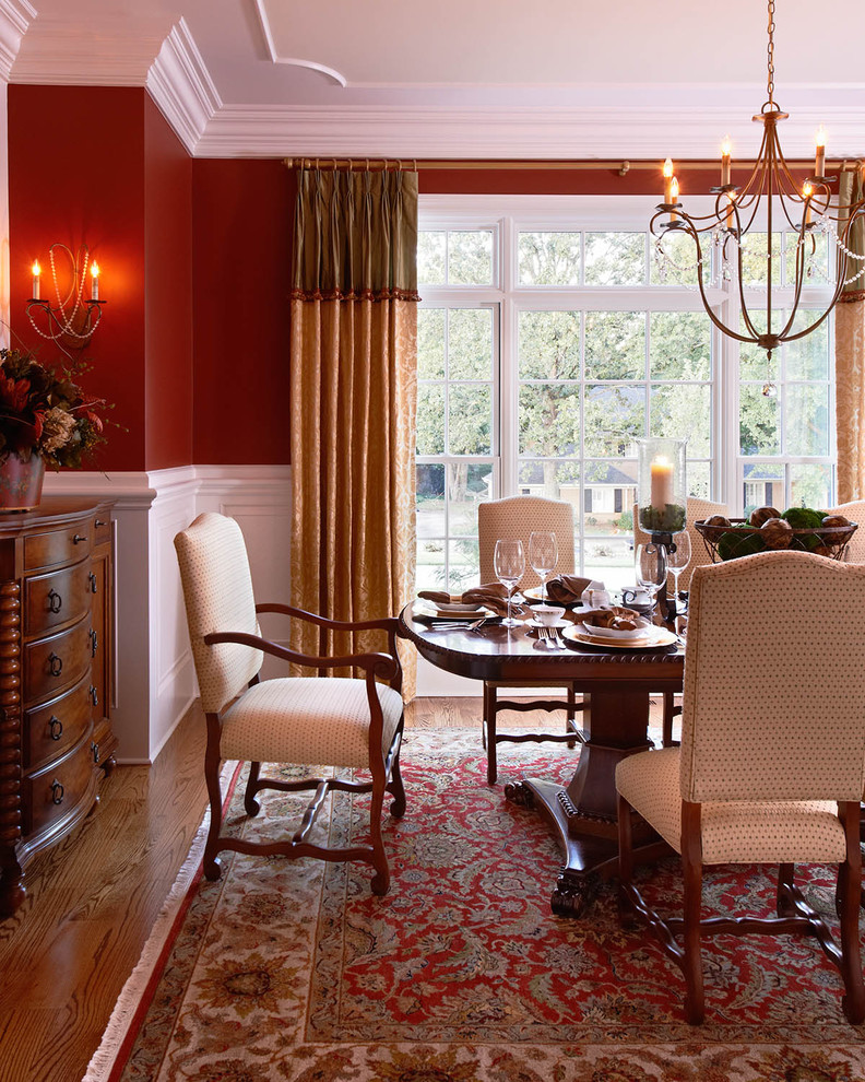 5 easy ways to make your home warm and cozy this holiday for Dining room decorating ideas with chair rail