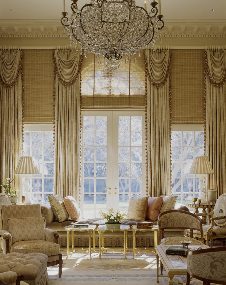 high ceiling living room hang curtains make look bigger decorating louis french