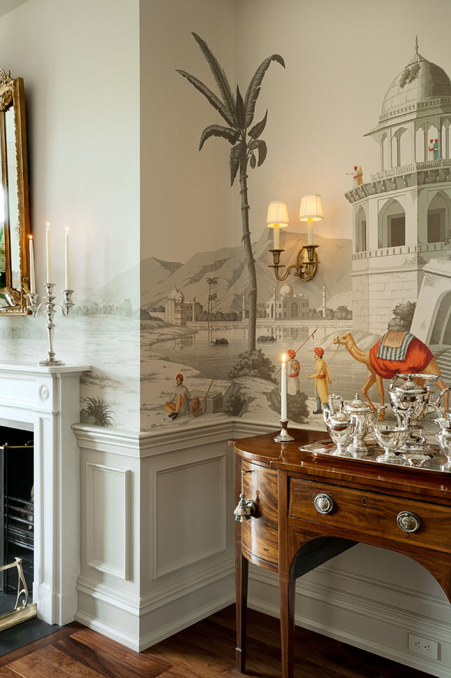 Trend spotting transforming rooms with magical wall for Dining room mural wallpaper