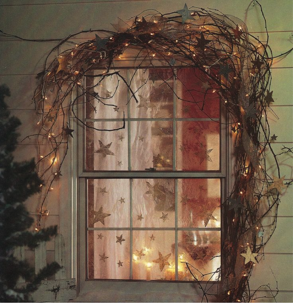 Christmas Decorations For Home Windows: Interior Decorating Design, Ideas, Inspirations, Photos