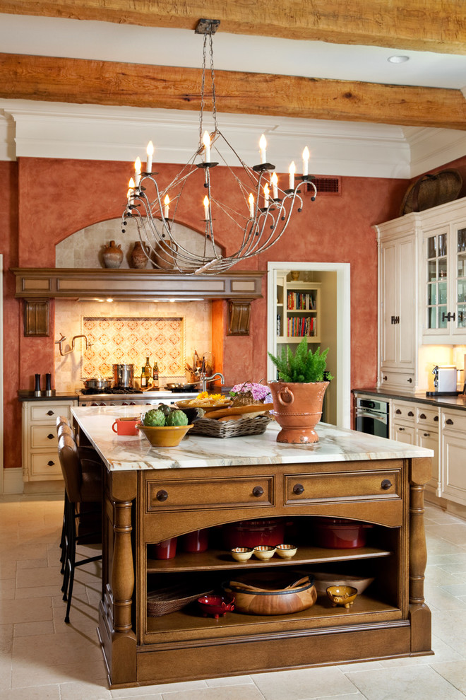 mediteranean stucco walls orange tiles decorating bible blog transitional-kitchen