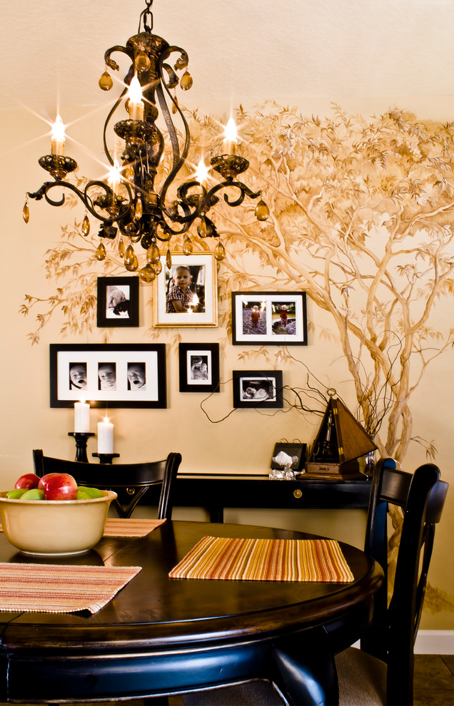tree wall mural decorating traditional-dining-room (1)