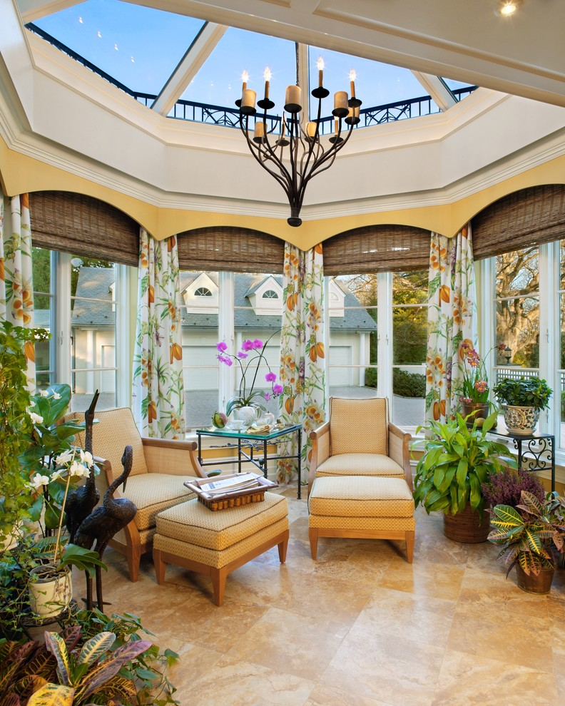 Transform your sunroom into your own winter garden for Sunroom and patio designs