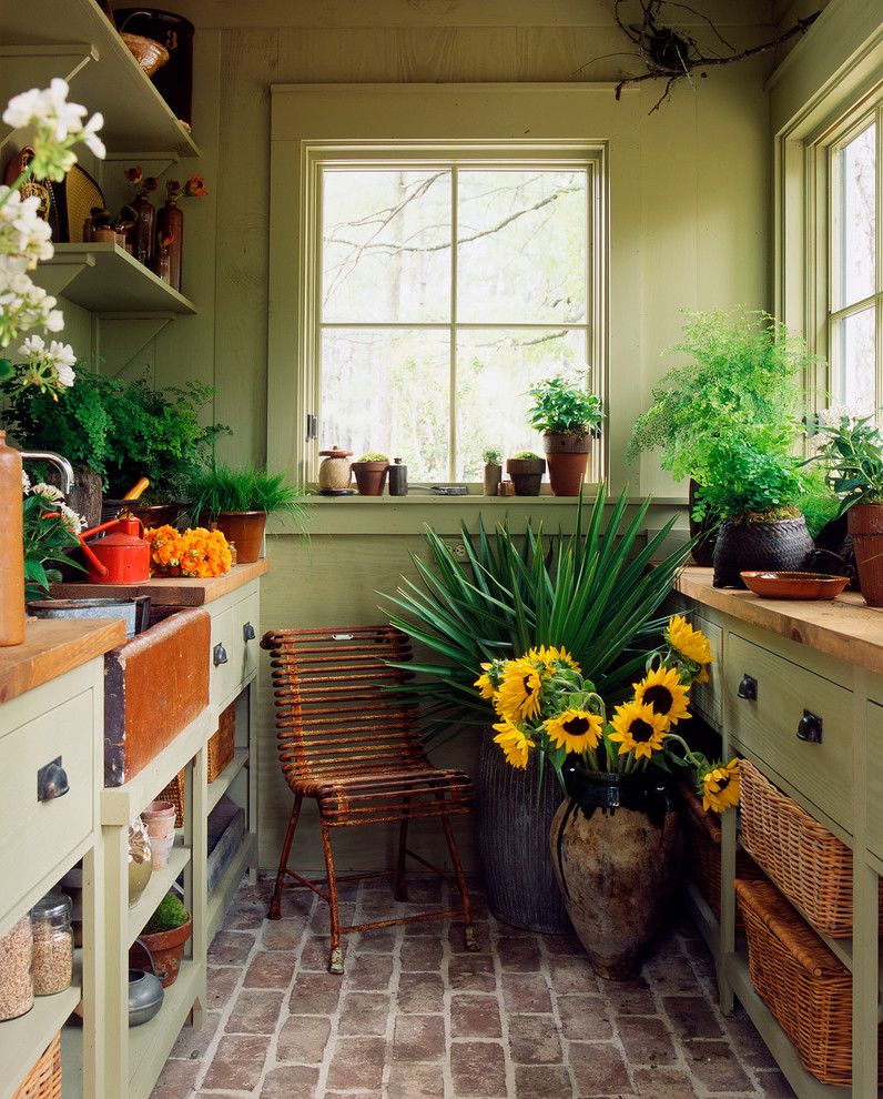 Sunroom dreams on pinterest sunroom potting station and for Indoor greenery ideas