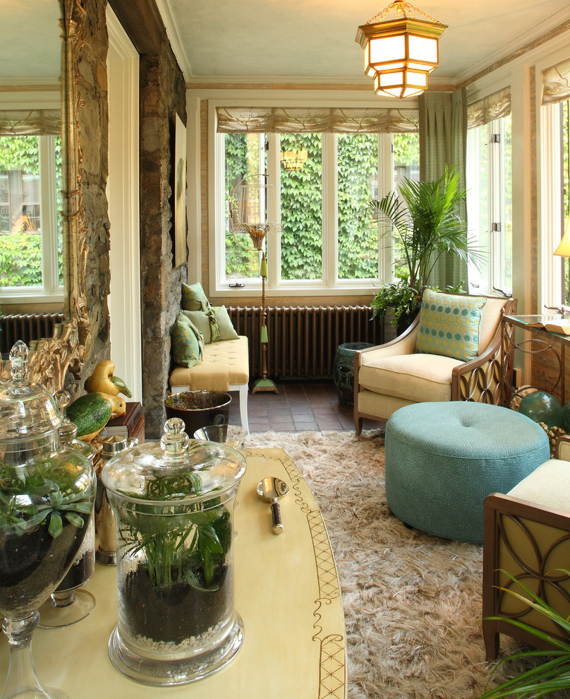 Transform your sunroom into your own winter garden for Sun porch ideas